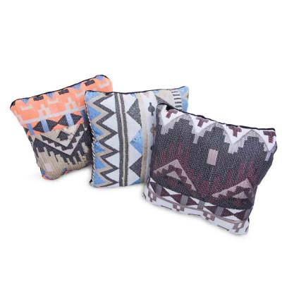 Aztec Printed Sequin Pillow 14in x 14in