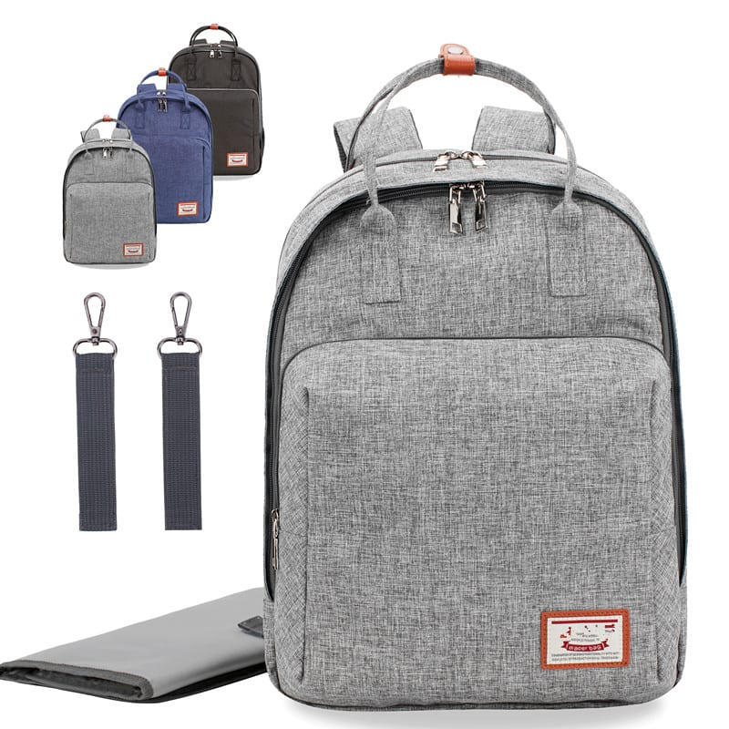 30% off Diaper bag backpack with changing pad,stroller straps & insulated pockets,3 colors,large capacity and multi pockets $25.19