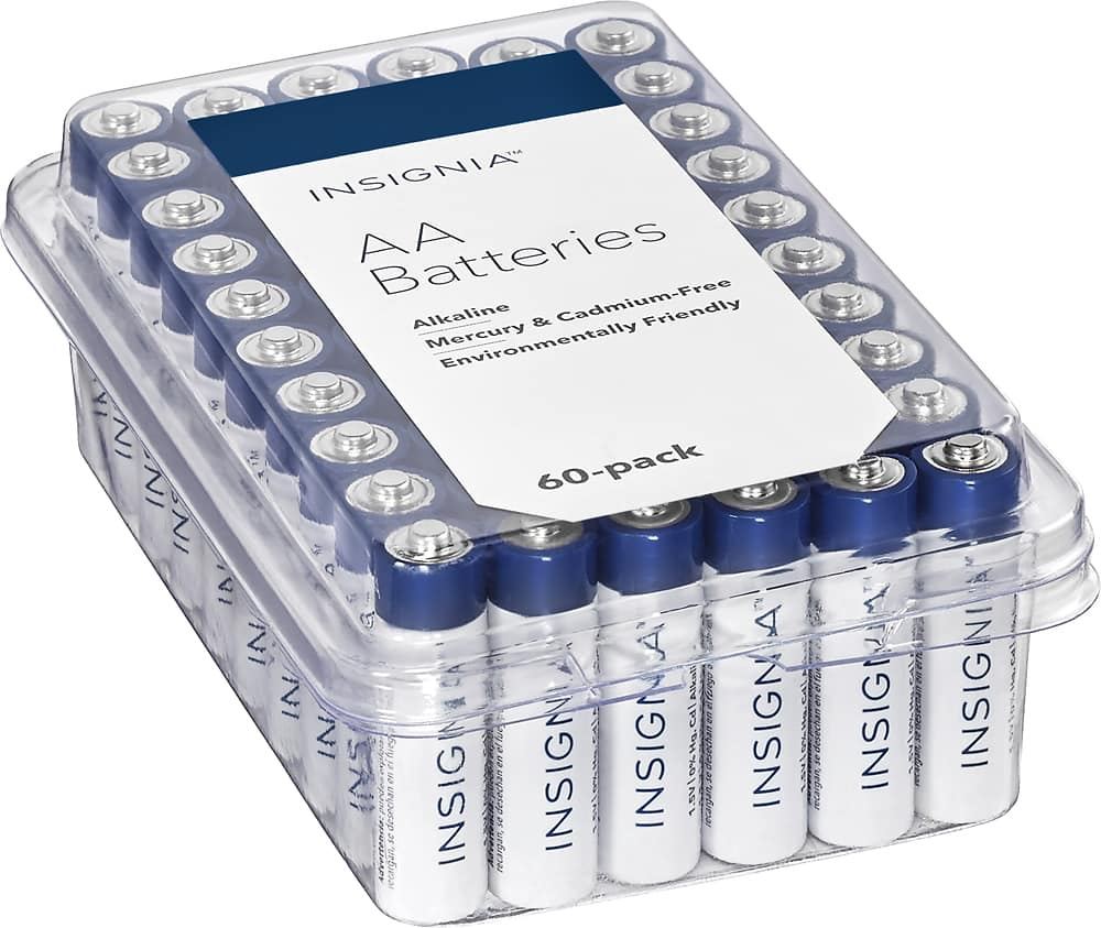 60 Pack Alkaline Insignia Batteries @Bestbuy $8.99