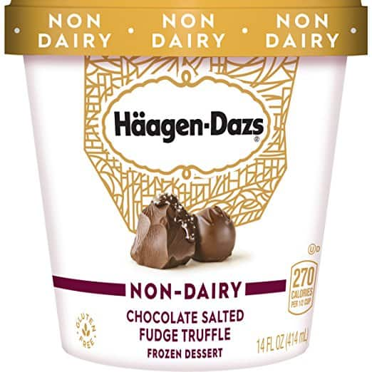 Haagen Dazs Non-Dairy Chocolate Salted Fudge Truffle Dessert 14 oz, $0.25 Exclusive for Prime through AmazonFresh only