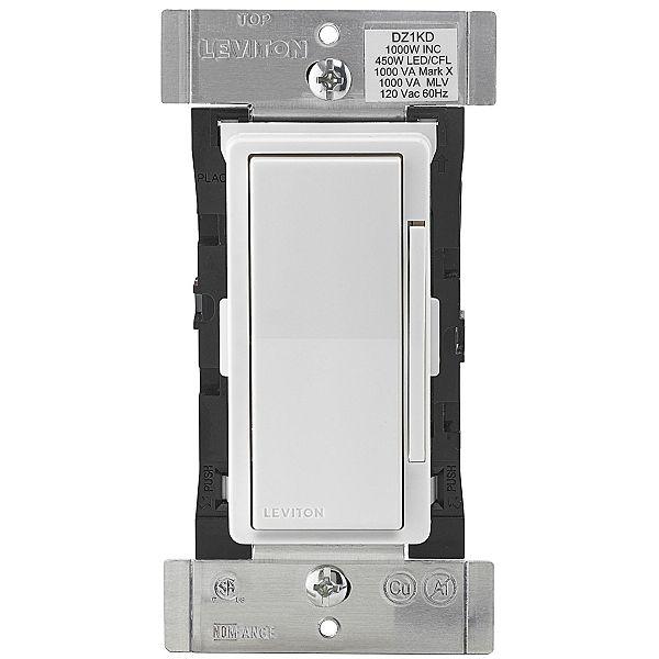 Leviton DZ1KD-1BZ Decora Smart 1000W Dimmer with Z-Wave Plus Technology, White/Light Almond, Works with Amazon Alexa [1000W Dimmer] $38.39
