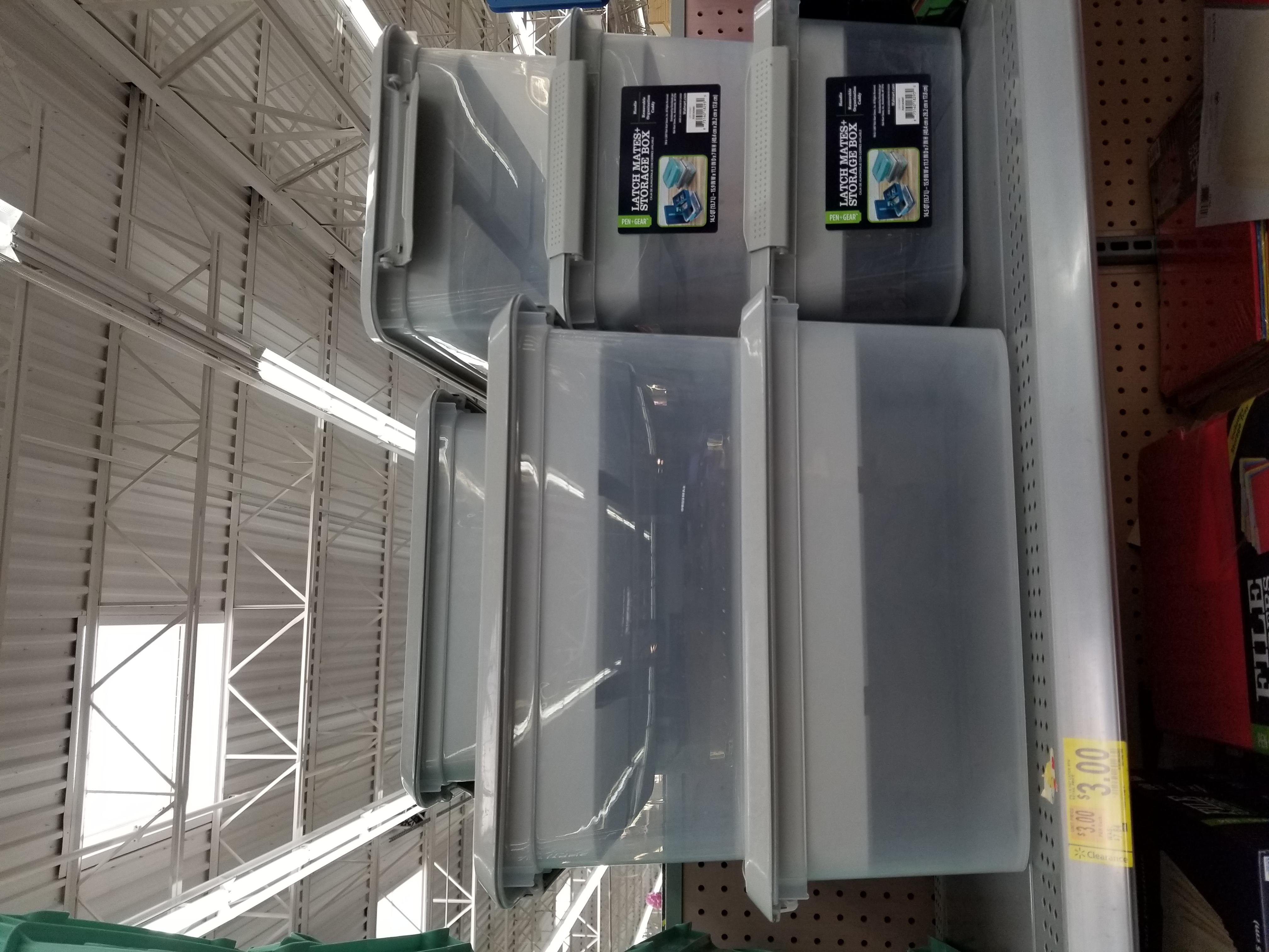 Latch Mates Storage box 14.5 QT @Walmart B&M- $3
