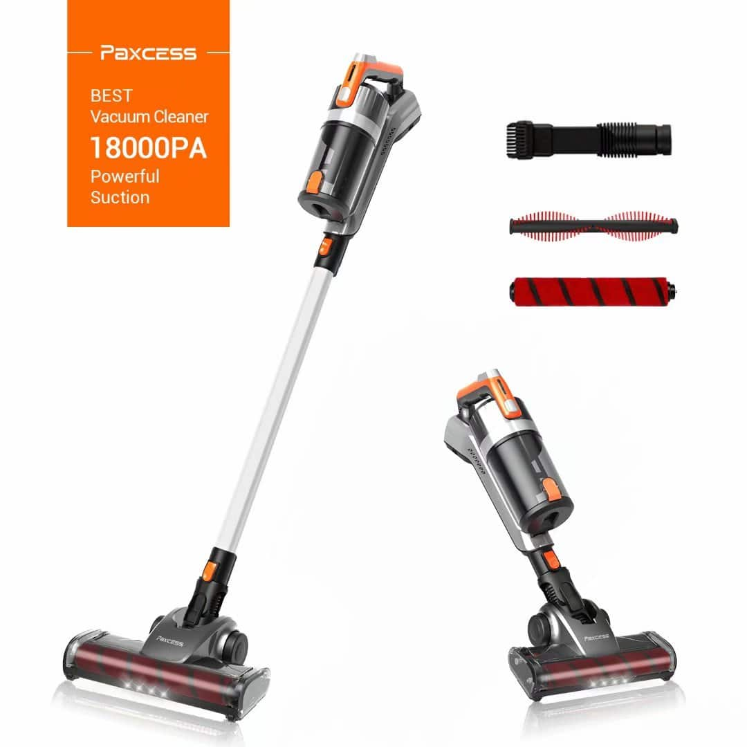 Paxcess Cordless Stick Vacuum Cleaner 18000 PA Powerful Suction Vacuum Cleaner for Carpet, Hard Floor and Pet Hair $59.99