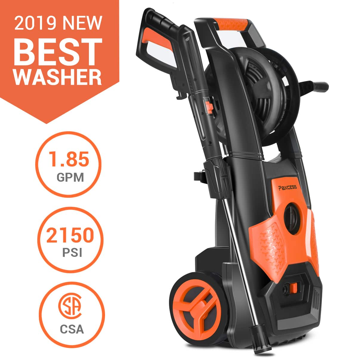 2150 PSI 1.85GPM Electric Pressure Washer $149.99+Free Shipping