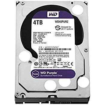 WD Western Digital Purple 4TB Surveillance Hard Disk Drive - 5400 RPM Class SATA 6 Gb/s 64MB Cache 3.5 Inch - WD20PURZ $109