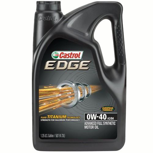 Castrol EDGE 0W-40 A3/B4 Full Synthetic Motor Oil 5Qt BMW Mercedes Euro Walmart or Amazon $19.98