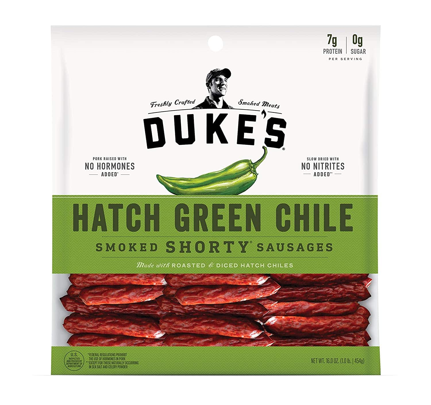 Duke's Smoked Shorty Sausages - Chorizo Lime or Hatch Chile 16 oz. Bag - $8.60 AC and 15% Subscribe & Save Discount @ Amazon