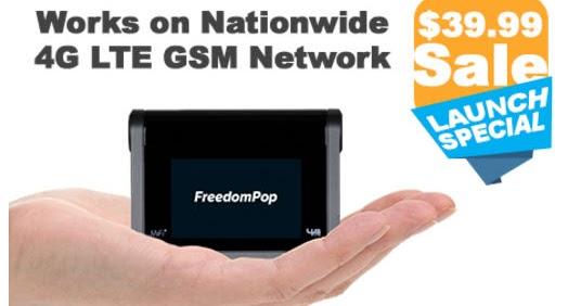 Freedompop - MiFi2 4G LTE GSM Hotspot - $39.99 Runs off AT&T network