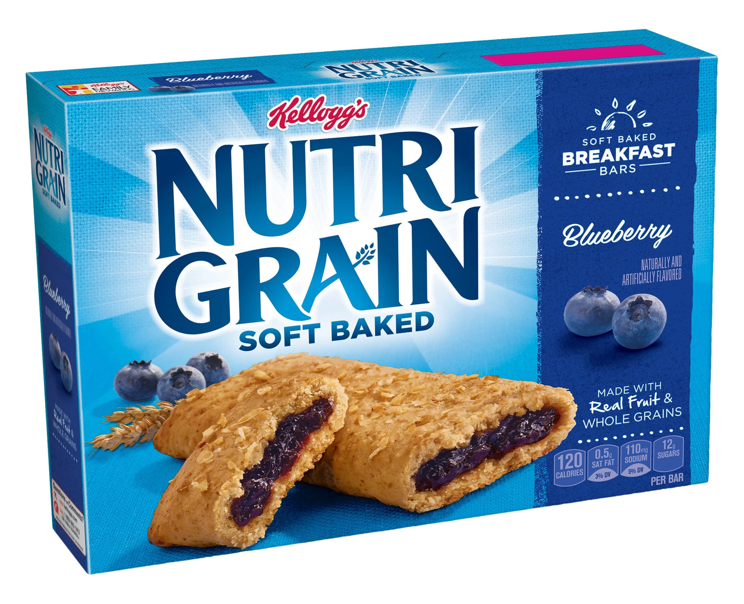 48 Kellogg's Nutri-Grain Cereal Bars (Three 16-Packs) - Strawberry $9.32