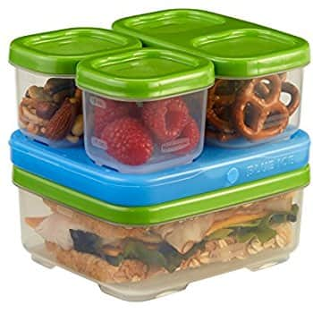 Rubbermaid LunchBox Sandwich Kit, Food Storage Container, Green - $5.85