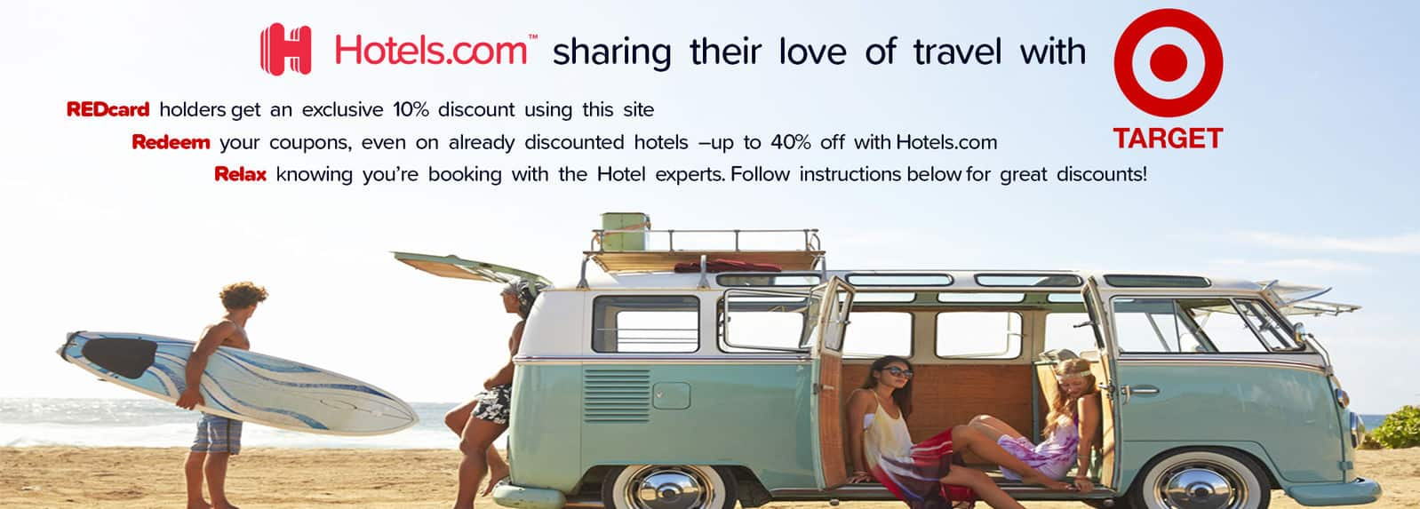 10% Off Hotels.com Stays for Redcard Holders