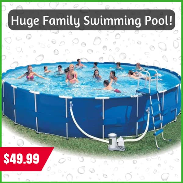 THIS CAN NOT BE REAL!!! 24x52 Swimming Pool - $49.99 www.Thatbasket.com