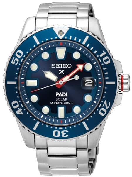 Seiko Men's Prospex PADI Special Edition Stainless Steel Solar Dive Watch - SNE435 + $40 KOHLS cash For $207.37 on KOHL's charge card