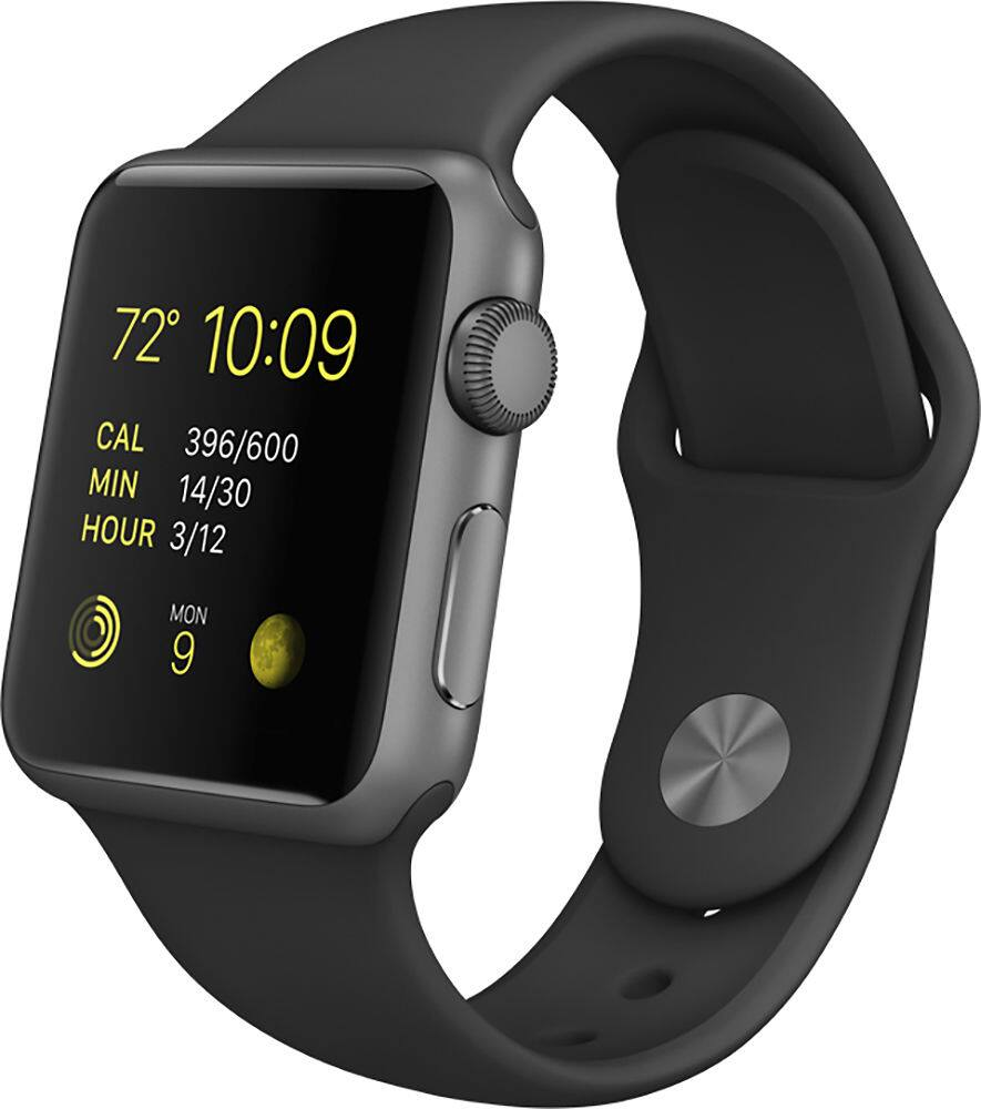 Apple Watch Sport 38mm Space Gray Aluminum Case w/ Black Sports Band (Refurb) $149.99 + Free Shipping