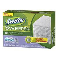 Drugstore.com Deal: Swiffer Sweeper Dry Sweeping Cloths with Febreze 16 count $1.34 with free shoprunner shipping