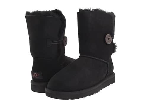 Ugg women's bailey button black, grey 71.99 at 6pm.com