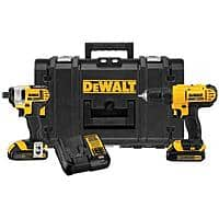 Home Depot Deal: Dewalt 20-Volt Max Lithium-Ion Cordless Combo Kit with Tough Case, $148.00 + tax, or YMMV 118.40 + tax with HF 20% off coupon,