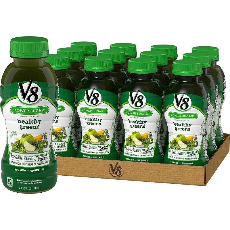 12-Pack V8 Healthy Greens Juice 12-oz. Bottle $9.84
