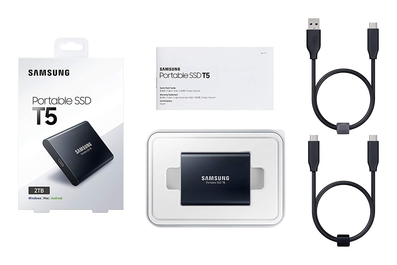 2TB Samsung T5 Portable External USB 3.1 SSD $249.99 @Various Retailers