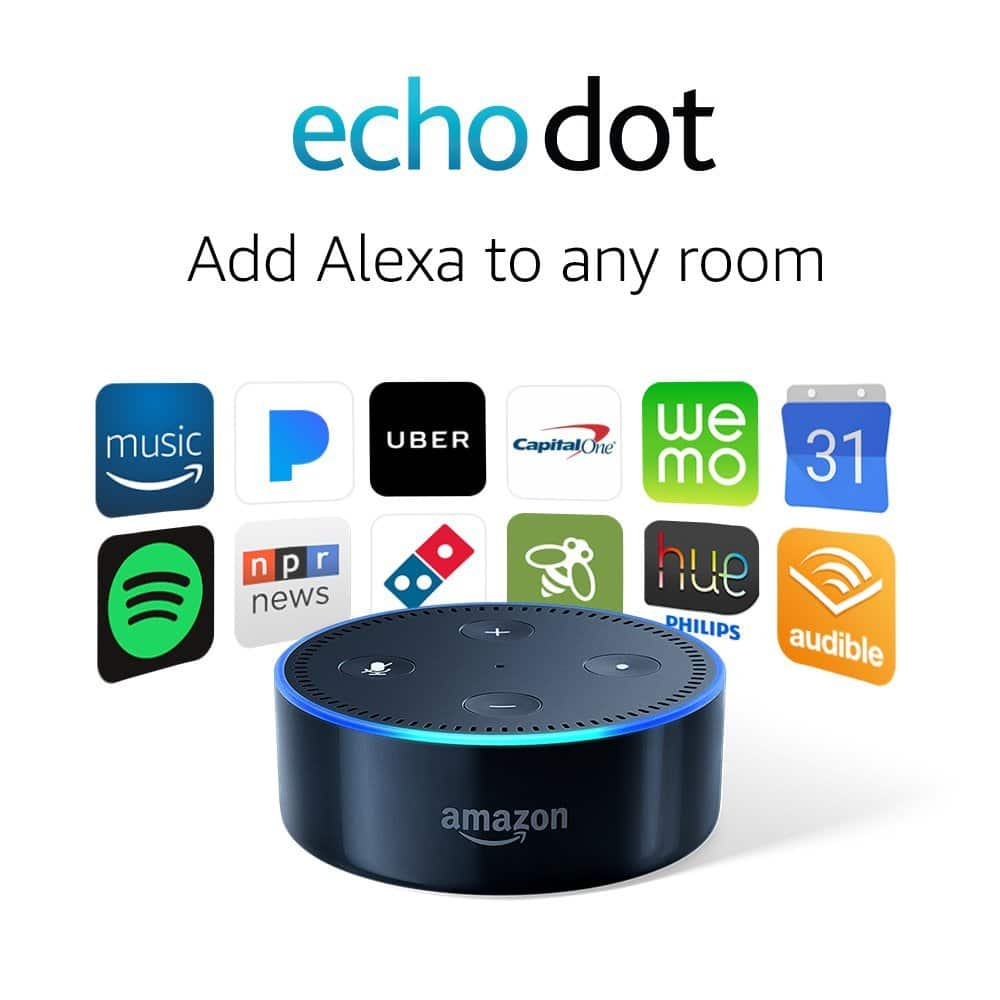 Amazon Echo Dot in Black (2nd Generation) $39.99