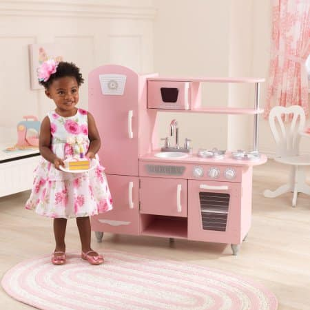 KidKraft Vintage Play Kitchen – Pink Only $69 + Free Shipping