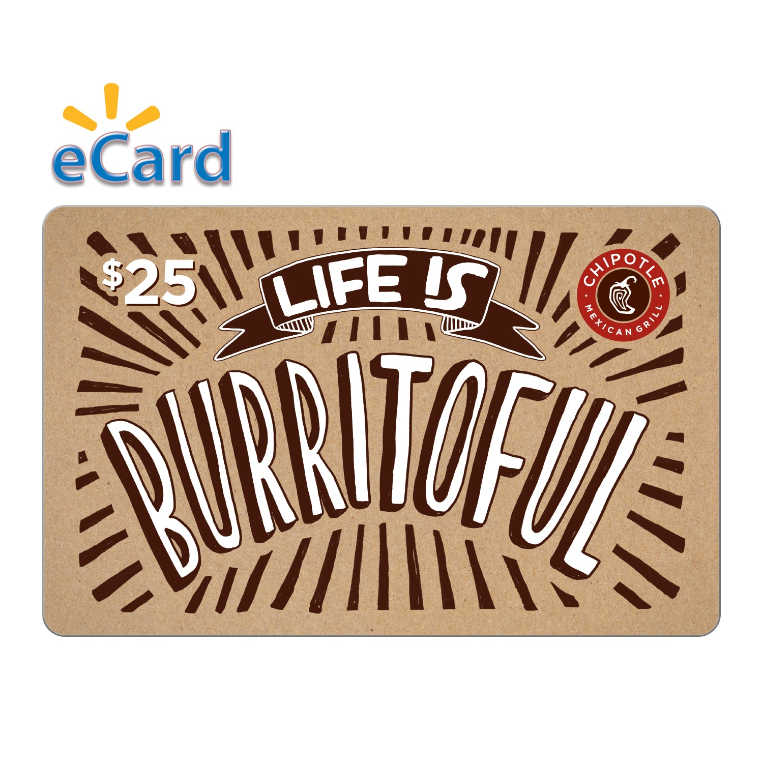 10% off Chipotle GC @ Walmart $22.50 for $25