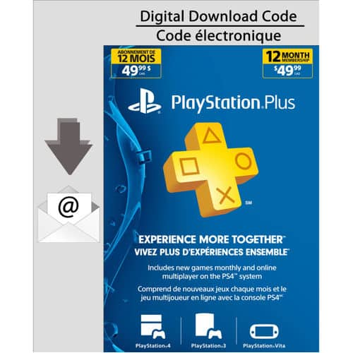 Playstation Plus 12 months $33.92 USD from Costco Canada
