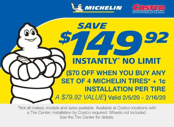 Costco Members: $150 off Michelin Tires