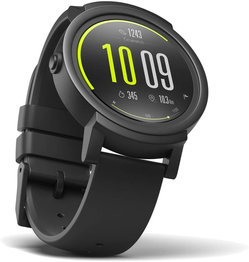 Ticwatch E most comfortable Smartwatch-Shadow,1.4 inch OLED Display, Android Wear 2.0,Compatible with iOS and Android, Google Assistant $75.65