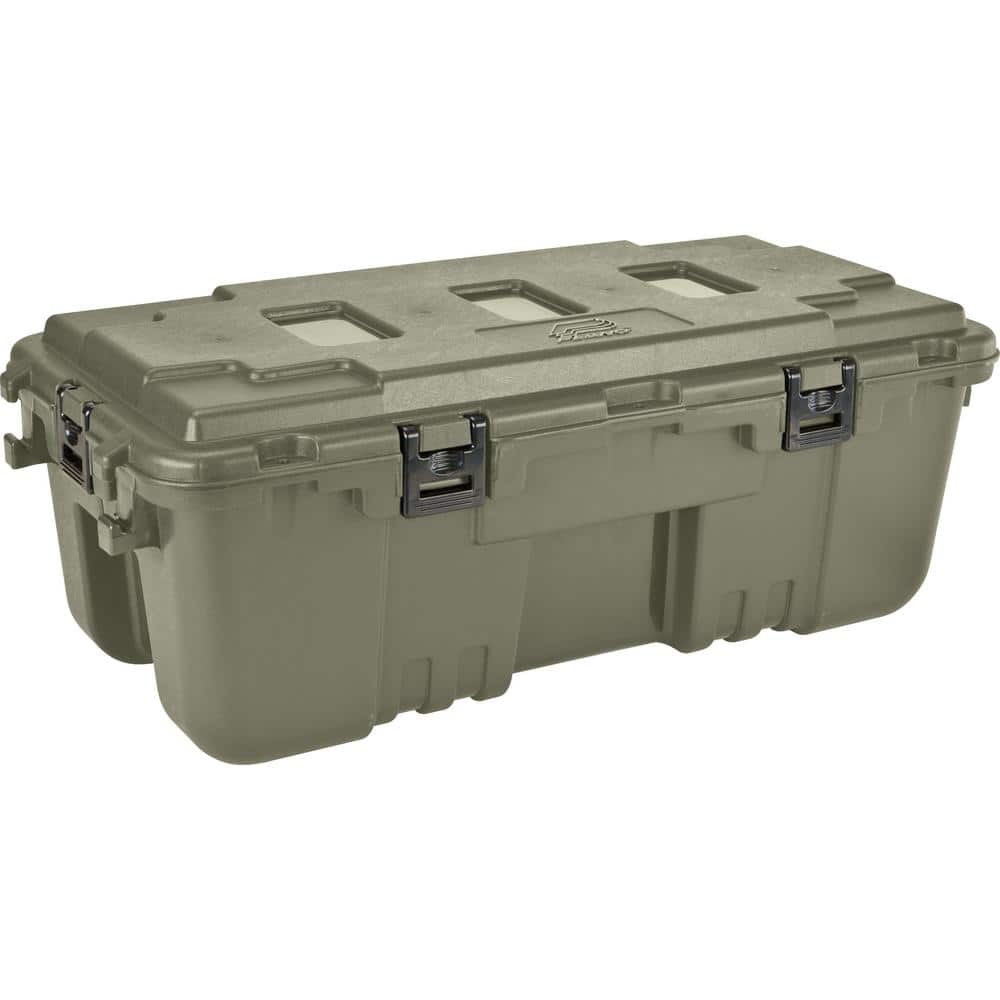 Plano 108 Qt Sportsman Trunk container Olive Green for camping storage $19.98