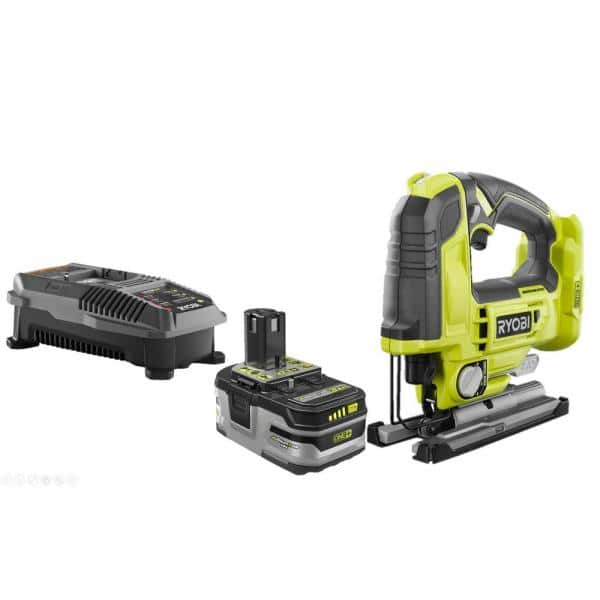 18-Volt ONE+ Cordless Brushless Jig Saw with 3.0 Ah LITHIUM+ HP Battery and 18-Volt Charger $129
