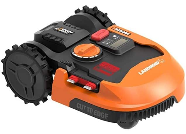 Worx Landroid M WR140 robotic mower, 1/4 acre, $780.34 or L WR150, 1/2 acre, $960.