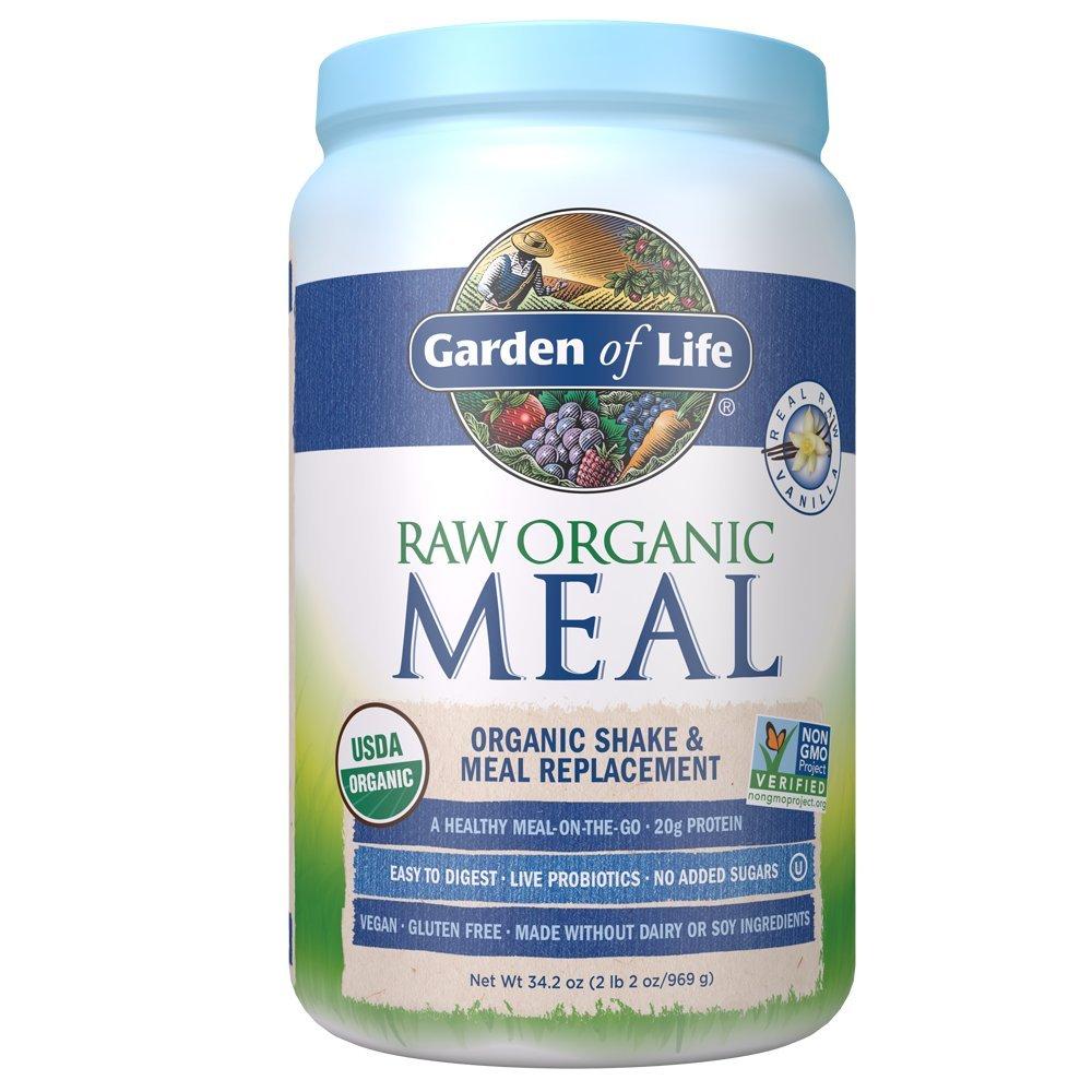 Garden of Life Meal Replacement Vanilla Powder, 28 Servings, Organic Raw Plant Based Protein Powder, Vegan, Gluten-Free [Vanilla] - [$20.47]