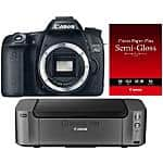 Canon EOS 6D DSLR Camera + 24-105mm f/4L Lens Kit + PIXMA PRO-100 Printer $1,899 AR; or Same w/ Audio-Technica ATH-M50x Headphones + Pro Audio Gear $1,999 AR + Free Shipping