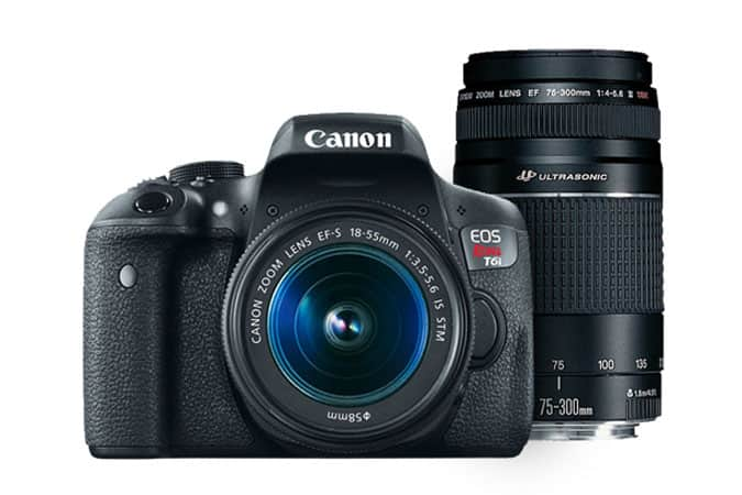 (Refurbished) Canon EOS Rebel T6i EF-S Kit with 18-55mm IS STM Lens $529.99; or + EF-S 55-250mm IS STM Lens $629.98 + Free Shipping @ Canon