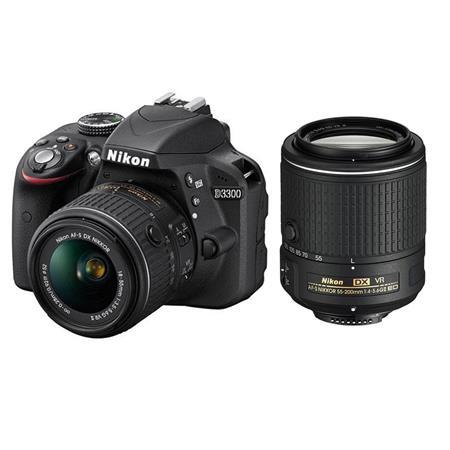 Nikon D3300 DSLR Camera w/ 18-55mm & 55-200mm VR II Lenses (Refurbished) $389.99 + Free Shipping @ Adorama