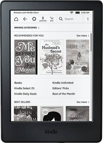 Kindle Paperwhite (Black or WHite) $89.99 + Free Shipping or Pickup @ Best Buy (with EDU coupon)