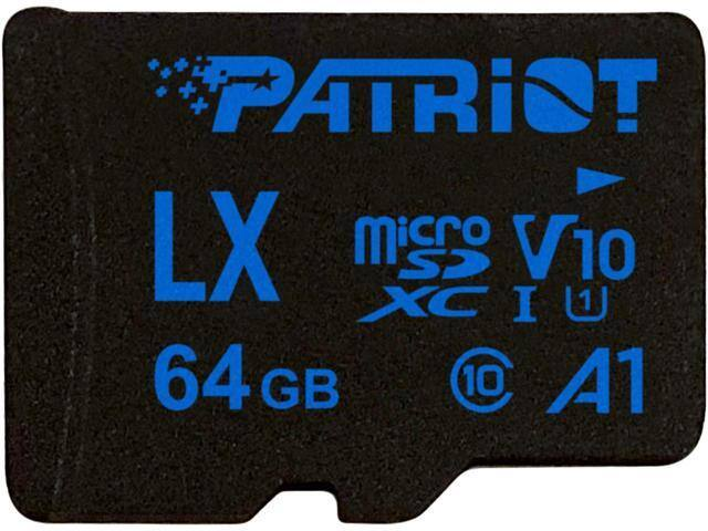 64GB Patriot LX Series microSDXC V10 A1 Memory Card with Adapter $7.99 + Free Shipping @ NeweggFlash