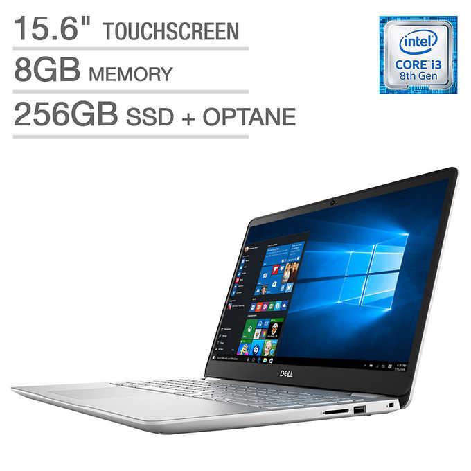 """15.6"""" Dell Inspiron 15 5584 Laptop: Intel Core i3-8145U, 1080p Touchscreen, 8GB DDR4, 256GB SSD, Backlit KB, Win 10 $379.99 + $9.95 S&H @ Costco.com"""