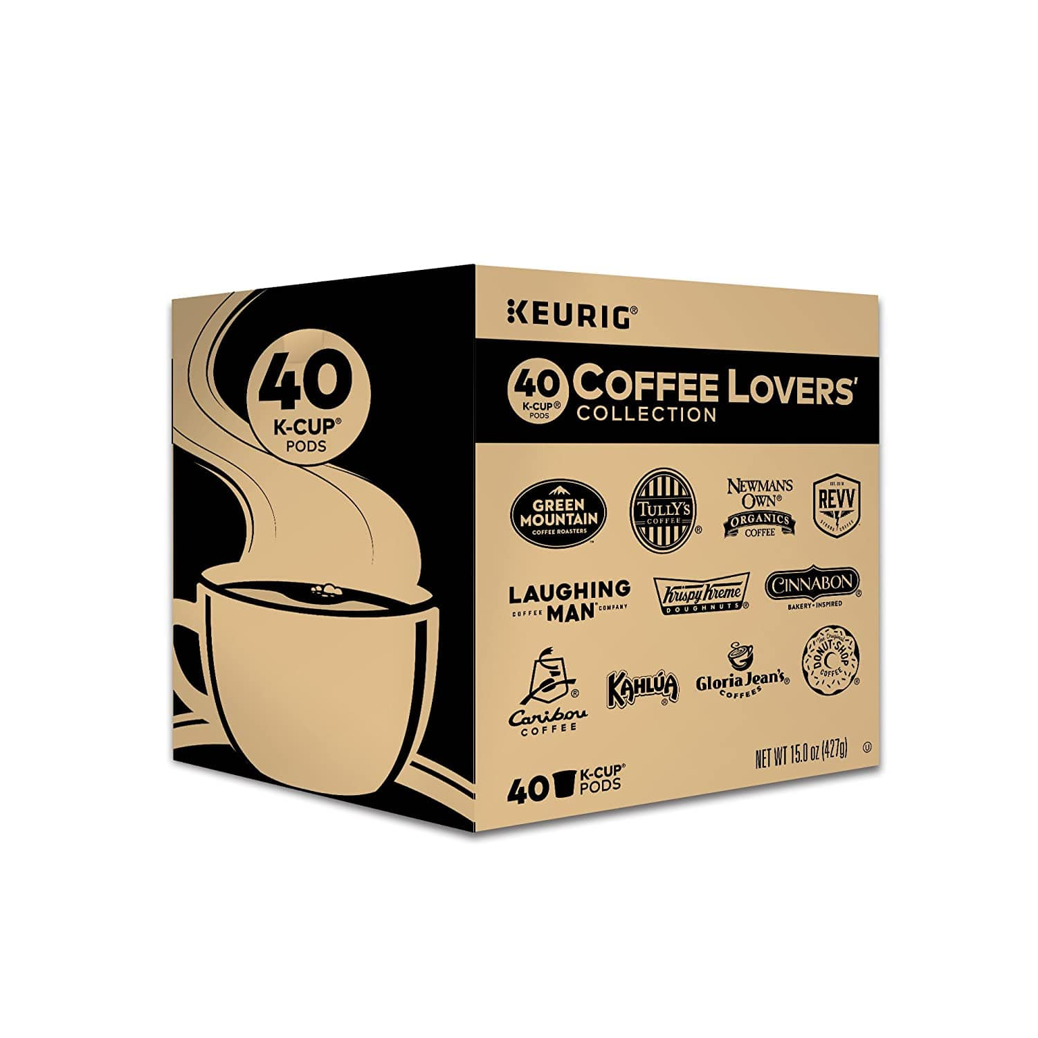 Keurig Coffee Lovers' Collection Variety Pack K-Cup Sampler (40 Count, $0.31 each) $12.34 @ Amazon