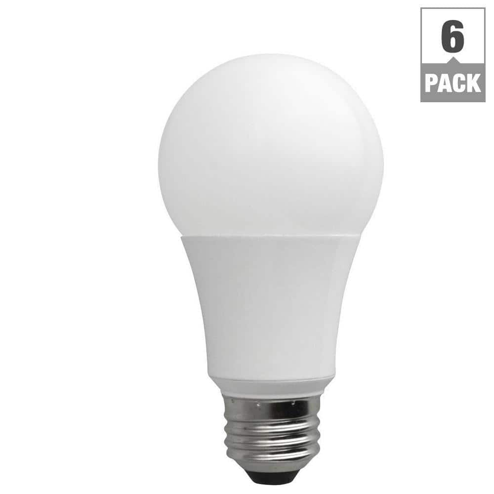Home Depot: TCP 60-Watt Equivalent Daylight (5000K) A19 Non-Dimmable LED Light Bulb (6-Pack) - $7.60 + Free Shipping