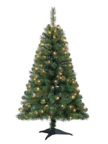 $19.99 4ft. Pre-Lit Riverside Pine Artificial Christmas Tree, Clear Lights  by Ashland® $19.96 - Slickdeals.net - $19.99 4ft. Pre-Lit Riverside Pine Artificial Christmas Tree, Clear
