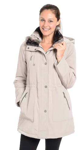 Women's Fleet Street Faux-Fur-Trimmed Anorak Jacket $95.99