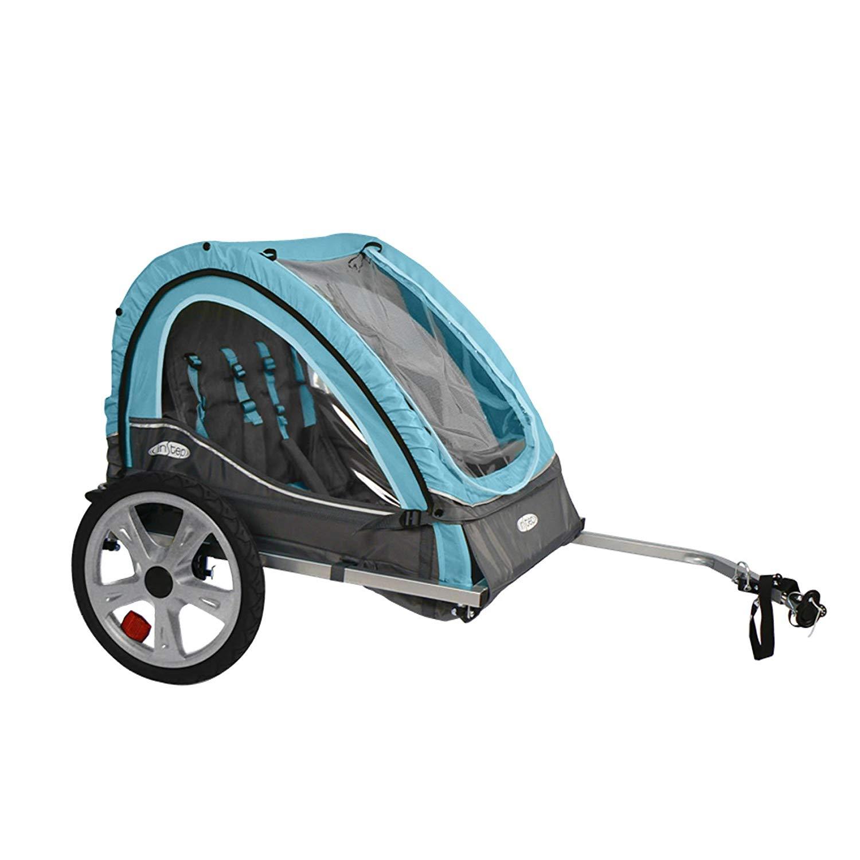 InSTEP Take 2 Bicycle Baby/Kids Pet Bike Trailer - Light Blue/Grey | QE127 (Amazon top seller) $65.21
