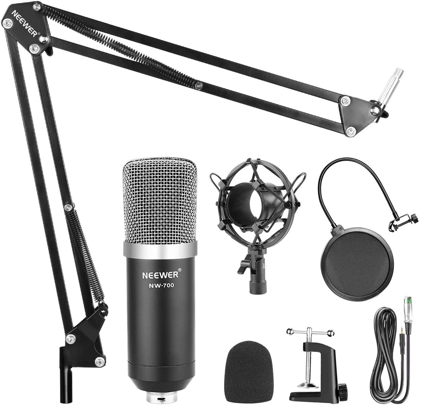 Neewer NW-700 Broadcasting Recording Condenser Microphone [With Arm Kit] $19.49