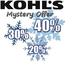 Kohl's Mystery Savings: 40% 30% or 20% Valid on 07/22/18 only