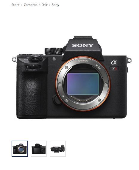 Sony alpha a7r iii mirrorless digital camera (body) $2068.99