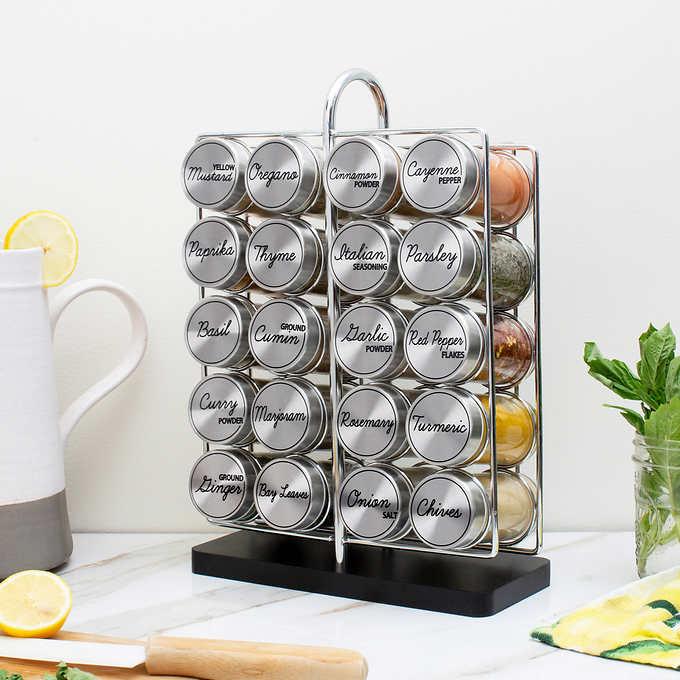 ORII 20 Jar Spice Rack Free refills for 5 Years $29.99