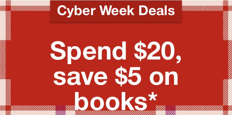 Spend $20, save $5 on books at Target.com