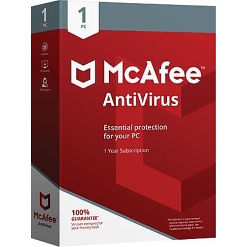 McAfee AntiVirus - 1PC - Staples Daily deal $9.99